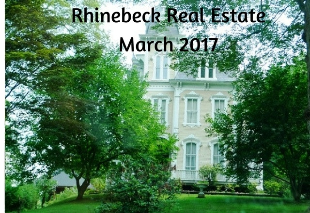 The Rhinebeck NY real estate March 2017 for single family homes